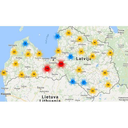 Ar interaktīvu karti var noskaidrot E-veselības sistēmas lietotājus